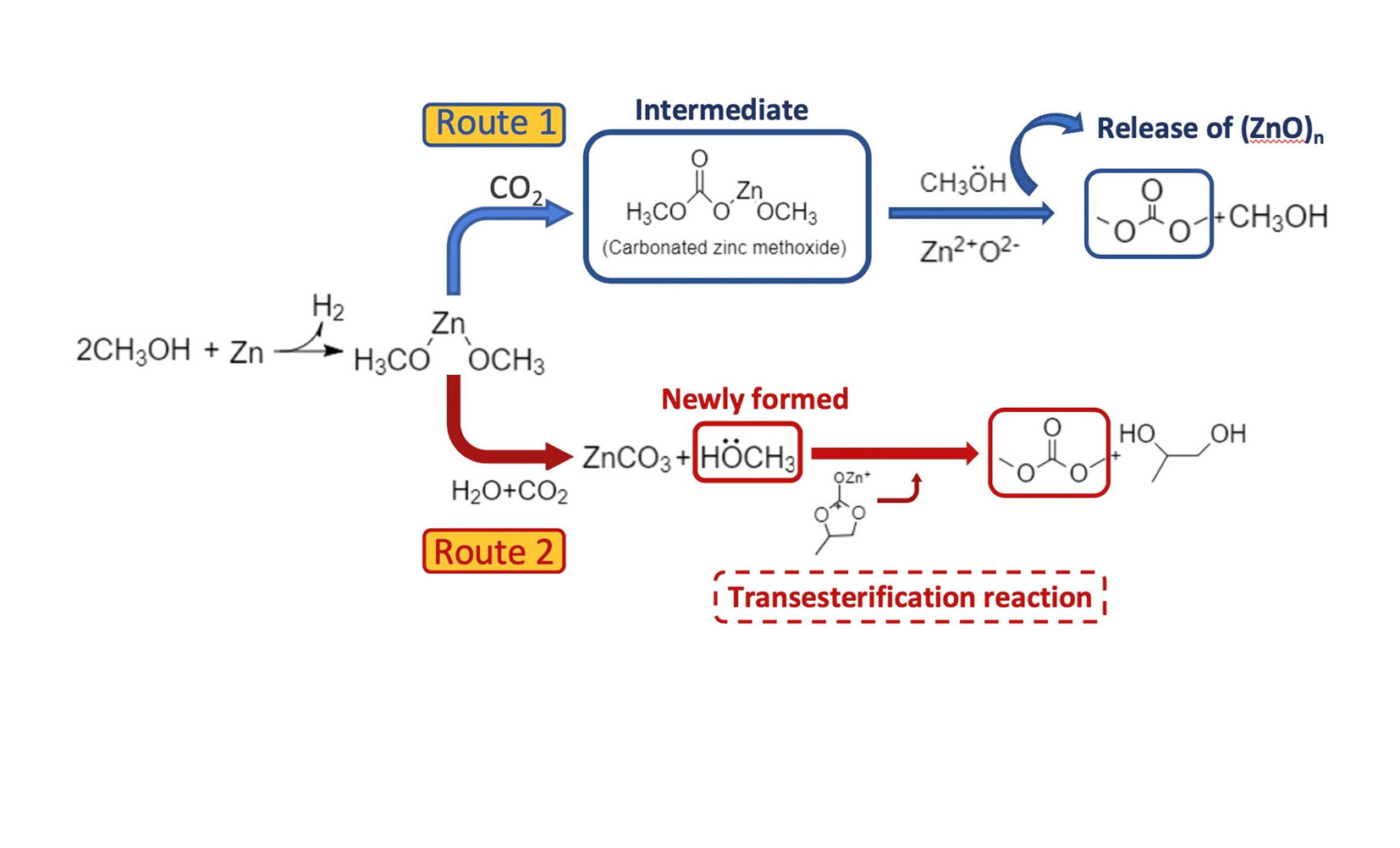 The role of Zn in the sustainable one-pot synthesis of dimethyl carbonate from carbon dioxide, methanol and propylene oxide